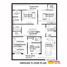 drawing house plans house plan for 40 feet by50 feet plot plot size 222 square yards