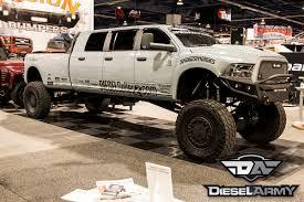 mercedes 6 wheel pickup sema 2014 diesel sellerz u0027s extreme 6 door show truck diesel army