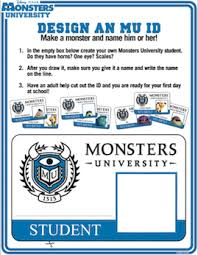 monsters university coloring pages badge