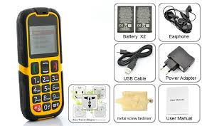 Rugged Cell Phones Waterproof Senior Citizen Rugged Cell Phone Quad Band Dual Sim
