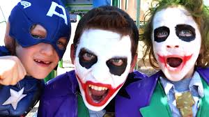 boys joker halloween costume joker u0026 joker boy vs little captain america in real life superhero