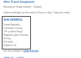 How to cancel travel republic uk uk contact numbers