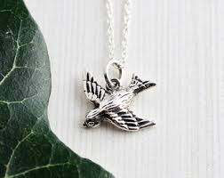 silver bird pendant necklace images Animal pendant etsy jpg