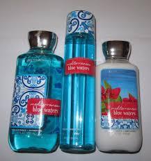 bath body works mediterranean blue waters body lotion shower gel