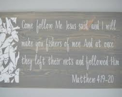 christian wood sign bible verse wall scripture wall