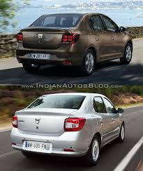 renault logan 2017 dacia logan sedan vs 2012 dacia logan sedan rear quarter old