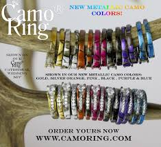 Camo Wedding Rings by Camo Cathedral Setting Wedding Set
