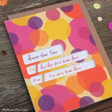 write your name on happy new year card picture in beautiful style