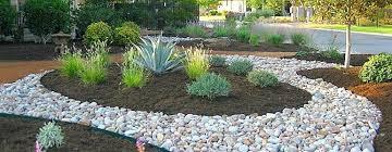 landscaping ideas mulch and rock garden bed mulch ideas backyard