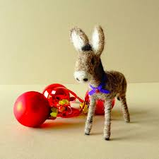 donkey ornament donkey figurine christmas tree decoration