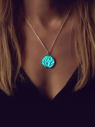 glow in the necklaces aqua glowing circle necklace glow in the the