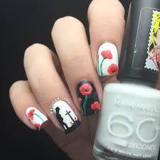 rememberance day poppy nail art polished inka the nail file