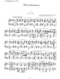 3 intermezzi op 117 brahms johannes imslp petrucci music