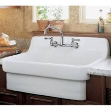 American Standard Country Wall Mount Vitreous China Kitchen Sink - American standard kitchen sink