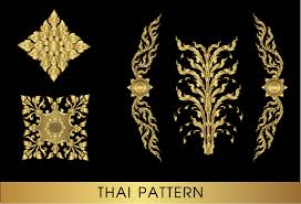 golden thai ornaments vector material 10 vector ornament
