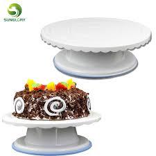 rotating cake stand 28cm fondant decor non slip cake turntable rotating revolving cake