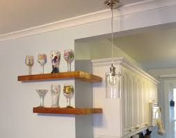 curved floating wall shelves