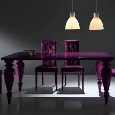 Purple Dining Rooms Italian Lacquer Dining Room Furniture
