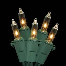 mini incandescent christmas lights set of 35 clear mini christmas lights green wire walmart com