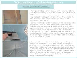 How To Tuft A Headboard by Tutorial On How To Make The Tufted Headboard Cre8tive Designs Inc