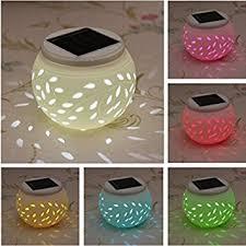 Patio Table Lights Ceramic Solar Light Solmore Led Solar Ceramic Table