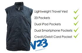 travel vests images Ayegear travel vest 23 concealed pockets dual pockets for ipad png