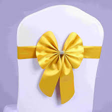 yellow chair sashes stretch bowknots chair sashes for wedding chairs back decorations