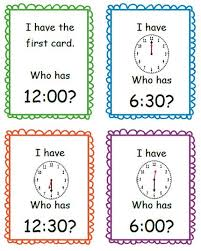i have who has time to the hour and half hour by teaching little