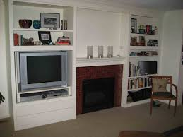 Tv Wall Mount With Built In Shelf Built In Bookshelves Around Tv Excellent The Built In Shelving
