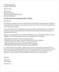 7 server cover letter templates free sample example format