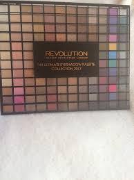 revolution 144 eyeshadow palette collection 2017