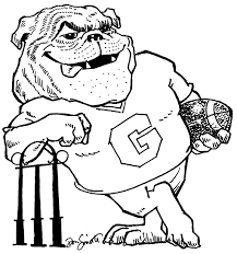 uga alumni dawg coloring sheet printable uga printables pinterest