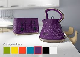 Purple Kettle And Toaster Morphy Richards Bring Your Kitchen To Life Colourful Kettles And