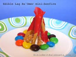 cuisine omer edible mini bonfire for lag ba omer bible belt balabusta