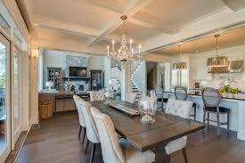 dining room beautiful open kitchen design with wood dining table