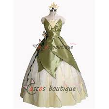 Ball Gown Halloween Costumes Custom Princess Frog Princess Tiana Dress Ball