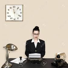 employé de bureau rétro employé de bureau dans le millésime environnement d entreprise