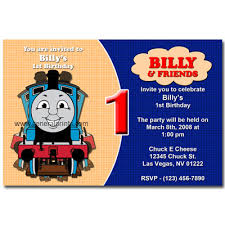 exceptional thomas the train birthday invitation template as grand