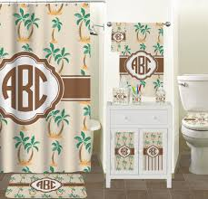 Tropical Bathroom Accessories by Palm Trees Bathroom Accessories Set Ceramic Personalized Potty