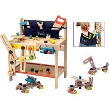Toddler Tool Benches - voila toy tool workbench wooden work bench for kids hipkids