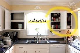 open cabinets in kitchen fabric backed open kitchen cabinets diy on a dime the tutorial