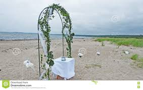 wedding arches coast wedding arch on the coast of sea stock photo image 74930784