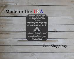 Fire Pit Signs by Outdoor Firepit Sign Etsy