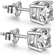 diamond stud earrings for men sterling silver diamond stud earrings fashion cubic