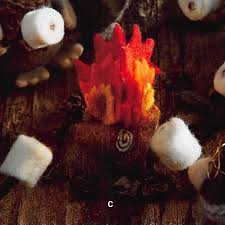 roost flaming felt cfire ornaments set 12 modish store