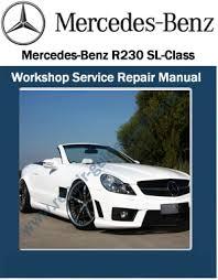 mercedes repair manuals mercedes r230 sl class workshop service repair manual pdf
