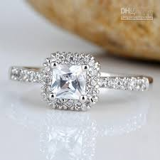 square style rings images Women square white topaz finger silver ring size 8 wed j7768 jpg