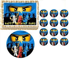 ninjago cake topper blue ninjago edible cake topper frosting sheet all sizes