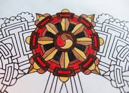 may you gain understanding dharma wheel candyhippie coloring