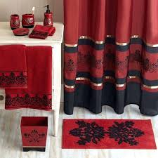 Curtains Black And Red Red Shower Curtains U2013 Teawing Co